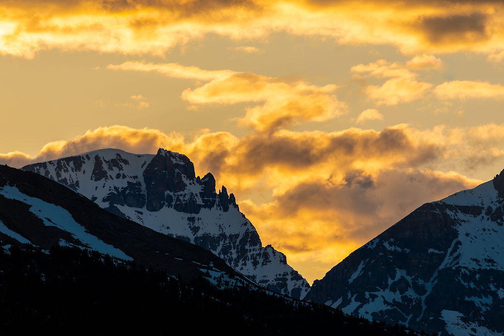 Mt Diadem at sunset, Columbia Icefields, Alberta, Canada