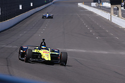 April 30, 2018 - Indianapolis, IN, U.S. - INDIANAPOLIS, IN - APRIL 30: Sebastien Bourdais (18) entering Turn 1 during an Open Test on April 30, 2018, at the Indianapolis Motor Speedway in Indianapolis, IN. (Photo by James Black/Icon Sportswire) (Credit Image: © James Black/Icon SMI via ZUMA Press)