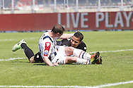 Onderwerp/Subject: Willem II - AZ Alkmaar - Eredivisie<br /> Reklame:  <br /> Club/Team/Country: <br /> Seizoen/Season: 2012/2013<br /> FOTO/PHOTO: Nicky HOFS ( Nick HOFS ) (FRONT) of Willem II clashes with Goalkeeper Esteban ALVARADO ( Esteban Alvarado BROWN ) (BEHIND) of AZ Alkmaar. (Photo by PICS UNITED)<br /> <br /> Trefwoorden/Keywords: <br /> #02 #05 $94 &plusmn;1355244121349 &plusmn;1355244121349<br /> Photo- &amp; Copyrights &copy; PICS UNITED <br /> P.O. Box 7164 - 5605 BE  EINDHOVEN (THE NETHERLANDS) <br /> Phone +31 (0)40 296 28 00 <br /> Fax +31 (0) 40 248 47 43 <br /> http://www.pics-united.com <br /> e-mail : sales@pics-united.com (If you would like to raise any issues regarding any aspects of products / service of PICS UNITED) or <br /> e-mail : sales@pics-united.com   <br /> <br /> ATTENTIE: <br /> Publicatie ook bij aanbieding door derden is slechts toegestaan na verkregen toestemming van Pics United. <br /> VOLLEDIGE NAAMSVERMELDING IS VERPLICHT! (&copy; PICS UNITED/Naam Fotograaf, zie veld 4 van de bestandsinfo 'credits') <br /> ATTENTION:  <br /> &copy; Pics United. Reproduction/publication of this photo by any parties is only permitted after authorisation is sought and obtained from  PICS UNITED- THE NETHERLANDS