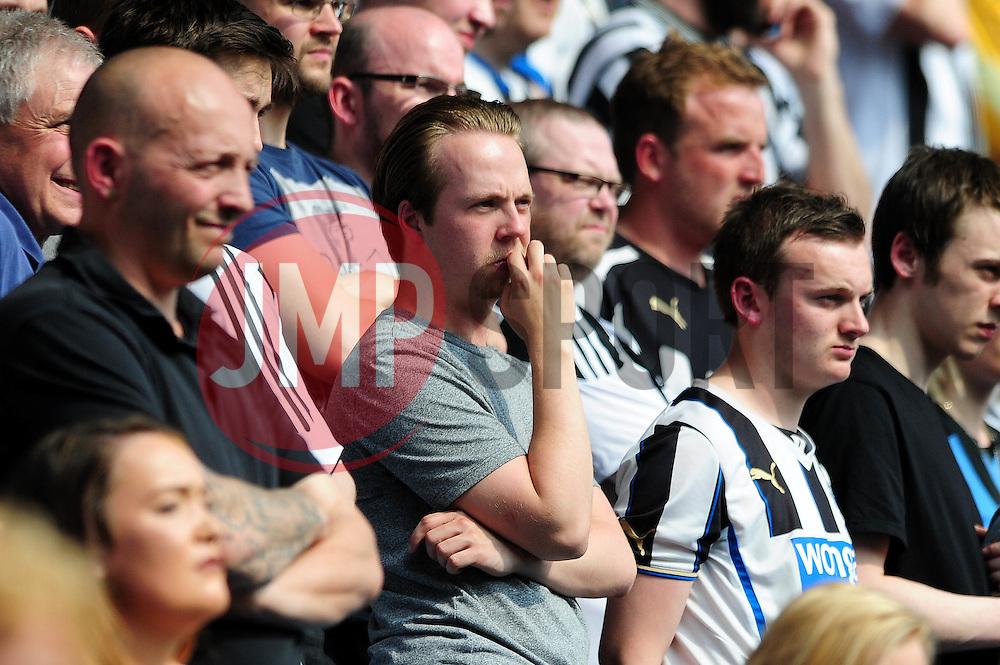 Newcastle United fans look on nervously - Mandatory by-line: Dougie Allward/JMP - 07/05/2016 - FOOTBALL - Villa Park - Birmingham, England - Aston Villa v Newcastle United - Barclays Premier League