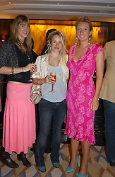 Left to right, MISS TALIA CARLTON-PAGET, MISS TAMSIN LONSDALE and MISS JOSIE GOODBODY  at a party to celebrate the re-launch of the Polo bar at The Westbury Hotel, Bond Street, London W1 on 26th April 2005.<br /><br />NON EXCLUSIVE - WORLD RIGHTS