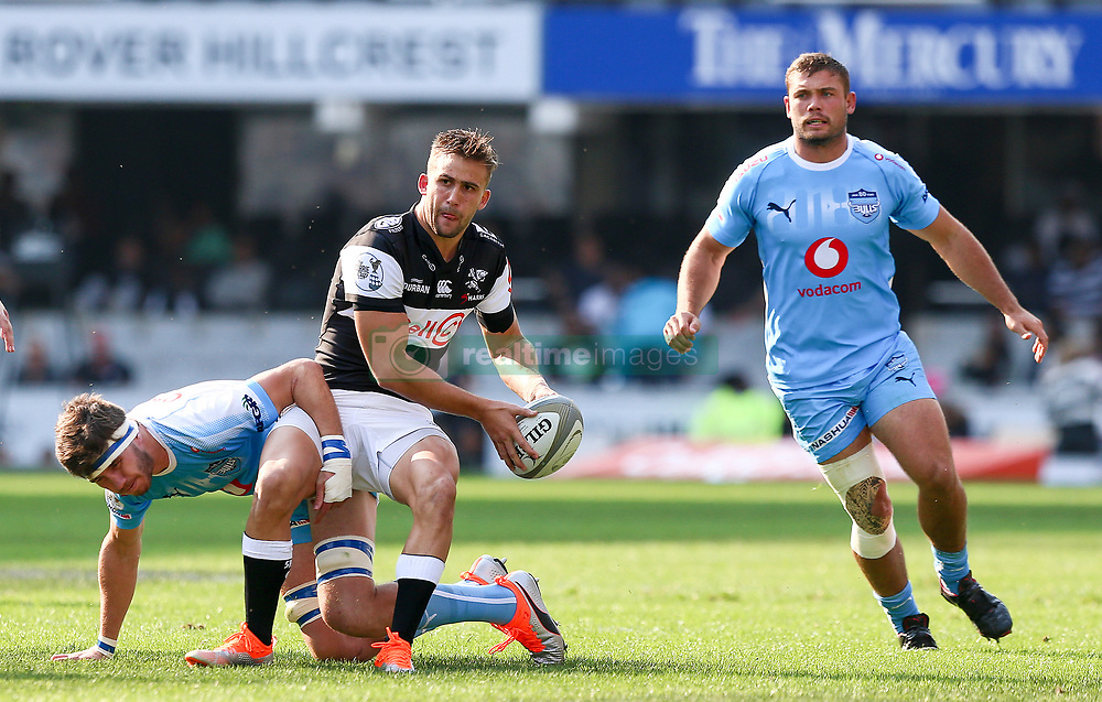 Durban. 250818. Jeremy Ward of the Cell C Sharks during the Currie Cup match between the Sharks and the Vodacom Bulls at Kings Park stadium, Durban South Africa. Picture Leon Lestrade. African News Agency. ( ANA ).