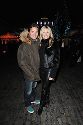 TINA HOBLEY and OLIVER WHEELER at Skate presented by Tiffany & Co at Somerset House, London on 22nd November 2010.