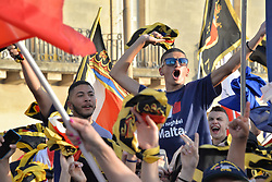 June 1, 2017 - Floriana, Malta - Supporters of the Nationalist Party at a campaign rally in Floriana, Malta on Thursday June 1, 2017. Malta will hold a national general election on Saturday June 3, 2017. (Credit Image: © Kendall Gilbert/NurPhoto via ZUMA Press)