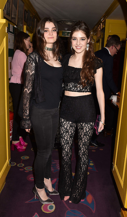 Left to right, sisters Caitlin Van den Bogaerde and Singer Birdy at the Annabel's Bright Young Things Party held at Annabel's, 44 Berkeley Square, London England. 16 February 2017.