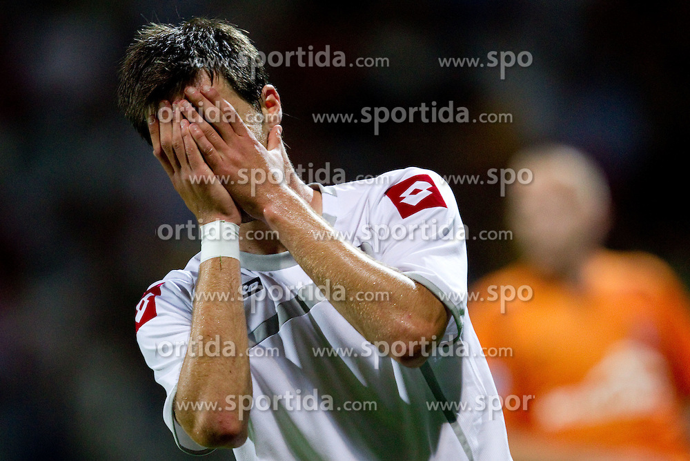 Peter Stojanovic of Koper during football match between FC Luka Koper and Shakhter Karagandy in 1st Round of Qualifications for Europe League, on June 30, 2011, in Stadium Bonifika, Koper, Slovenia. (Photo by Vid Ponikvar / Sportida)