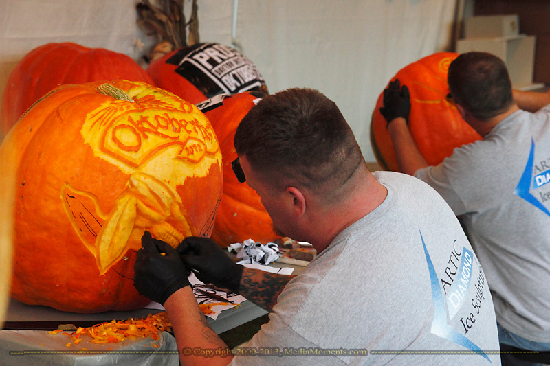 Carving pumpkins during the Preview Party for the 41st annual Oktoberfest at the Dayton Art Institute, Friday, September 21, 2012.
