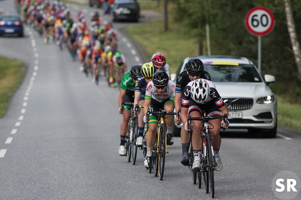 Liane Lippert (GER) of Team Sunweb digs deep on the front on Stage 2 of the Ladies Tour of Norway - a 140.4 km road race, between Sarpsborg and Fredrikstad on August 19, 2017, in Ostfold, Norway. (Photo by Balint Hamvas/Velofocus.com)