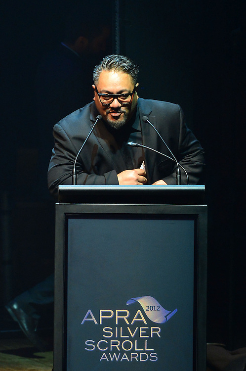 Che Fu on stage at the APRA Silver Scrolls Awards 2012. Auckland Town Hall. 13 September 2012.