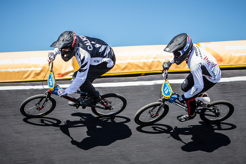 2018 Youth Olympic Games<br /> Buenos Aires, Argentina<br /> Mixed BMX - Race<br /> Motos<br /> CALKIN Cailen (NZL)<br /> MASUDA Yuichi (JAP)