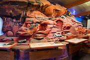 Interpretive display at the visitor center, Valley of Fire State Park, Nevada USA