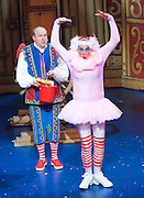 Dick Whittington <br /> by Eric Potts <br /> directed by Ian Talbot<br /> at New Wimbledon Theatre, Wimbledon, London, Great Britain <br /> rehearsal <br /> 8th December 2016 <br /> <br /> <br /> Matthew Kelly as Sarah the Cook <br /> <br /> <br /> <br /> <br /> Tim Vine as idle jack <br /> <br /> <br /> Photograph by Elliott Franks <br /> Image licensed to Elliott Franks Photography Services