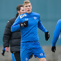 St Johnstone Training....14.03.14<br /> David Wotherspoon pictured in training this morning ahead of tomorrow's game against Ross County.<br /> Picture by Graeme Hart.<br /> Copyright Perthshire Picture Agency<br /> Tel: 01738 623350  Mobile: 07990 594431