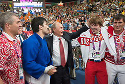 Russian President Vladimir Putin watching the  Judo at the London 2012 Olympics , Thursday 2nd August 2012  Photo by: i-Images