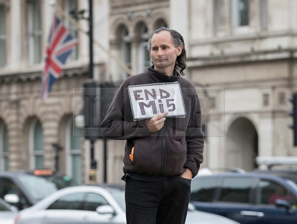 Lone Protester Calls For An End To Mi5 London News Pictures