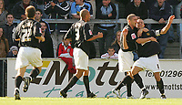 Photo: Frances Leader.<br />Wycombe Wanderers v Chester City. Coca Cola League 2.<br />01/10/2005.<br /><br />Chester's Michael Branch captain celebrates the second goal for their side.