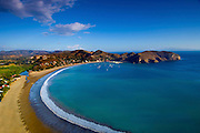 The cresent-shaped bay and beach of San Juan del Sur, a resort town on the Pacific Ocean.