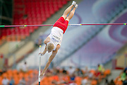 Robert Sobera from Poland competes in men's pole vault during the 14th IAAF World Athletics Championships at the Luzhniki stadium in Moscow on August 10, 2013.<br /> <br /> Russian Federation, Moscow, August 10, 2013<br /> <br /> Picture also available in RAW (NEF) or TIFF format on special request.<br /> <br /> For editorial use only. Any commercial or promotional use requires permission.<br /> <br /> Mandatory credit:<br /> Photo by &copy; Adam Nurkiewicz / Mediasport