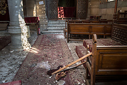 December 11, 2016 - Cairo, Egypt - Damage inside the Coptic Cathedral after an explosion killing over 20 people in Cairo, Egypt, December 11, 2016 (Credit Image: © Sima Diab via ZUMA Wire)