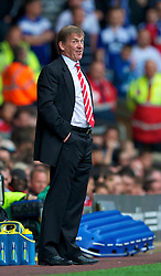 LIVERPOOL, ENGLAND - Saturday, April 23, 2011: Liverpool's manager Kenny Dalglish MBE during the Premiership match against Birmingham City at Anfield. (Photo by David Rawcliffe/Propaganda)
