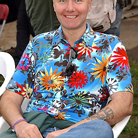Irvine Welsh, Scottish writer attends the Fleadh 2002 Music festival at Finsbury Park in North London. 8th June 2002<br /> <br /> Photograph by Andy Butterton/Writer Pictures<br /> <br /> WORLD RIGHTS
