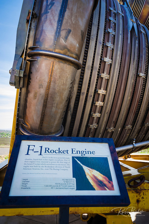 F-1 Rocket Engine at the International Space Hall of Fame, Alamogordo, New Mexico USA