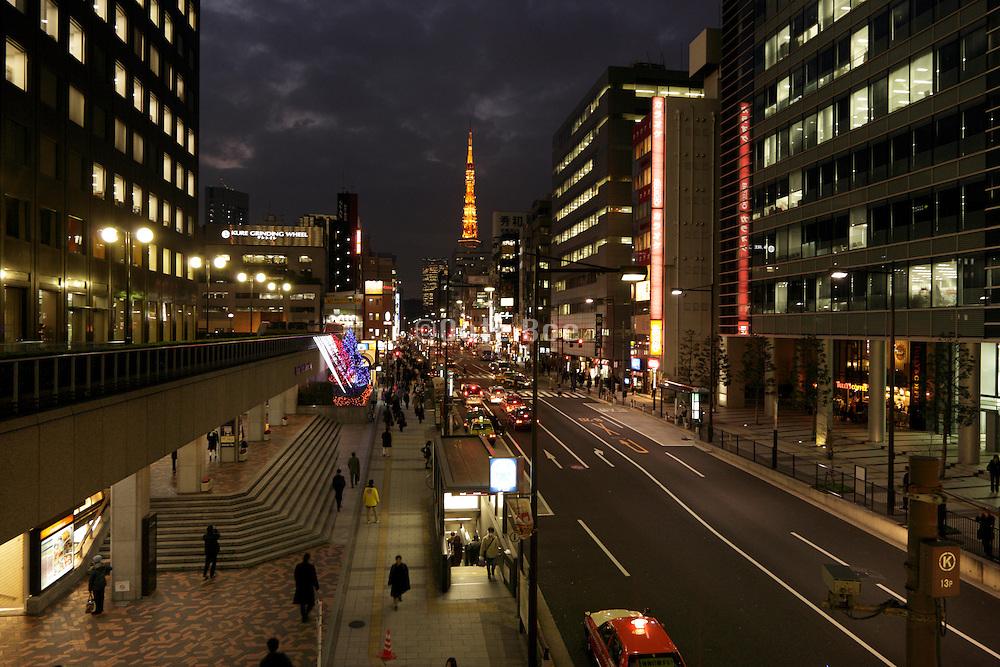 The Sotobori-Dori Avenue with Tokyo tower