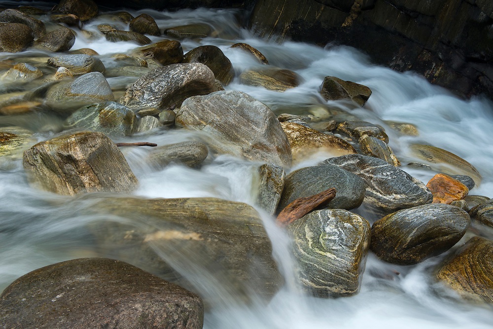 Maggia ValleEurope, Switzerland, Ticino, Maggia Valley, stone in Maggia gorge