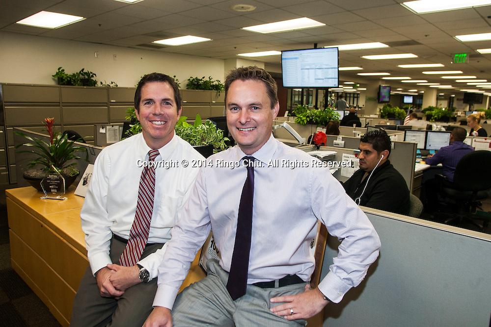 Ian Anderson, left, and Paul Kerwin of Westlake Financial.<br /> (Photo by Ringo Chiu/PHOTOFORMULA.com)