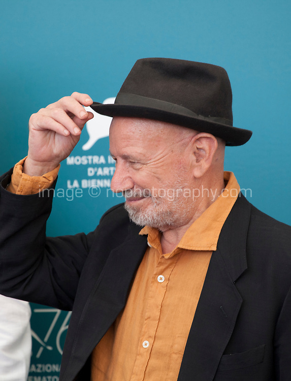 Director Nouri Bouzid at the photocall for the film The Scarecrows (Les Épouvantails) at the 76th Venice Film Festival, on Thursday 29th August 2019, Venice Lido, Italy.