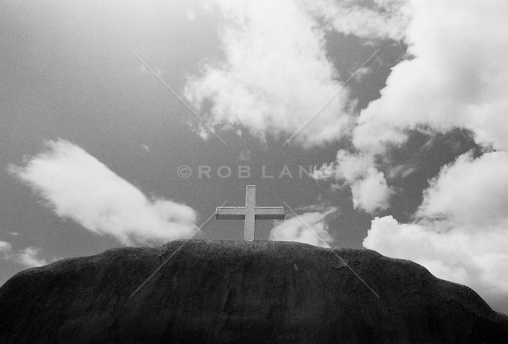 Cross on a rock
