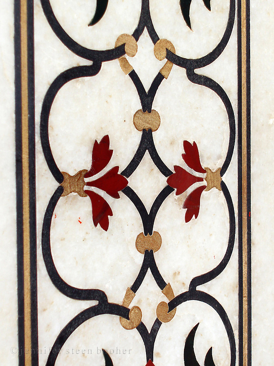 Detail of wall inlay, Taj Mahal.