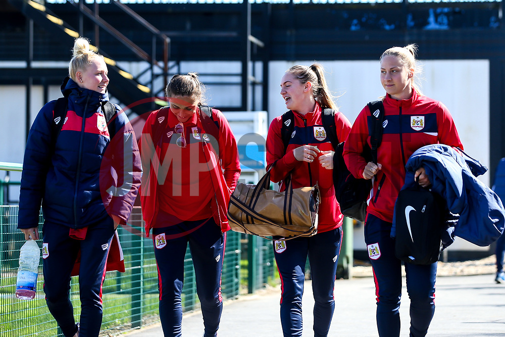Bristol City Women arrive at Stoke Gifford Stadium for the Women's Super League fixture with Everton Ladies - Mandatory by-line: Robbie Stephenson/JMP - 24/03/2019 - FOOTBALL - Stoke Gifford Stadium - Bristol, England - Bristol City Women v Everton Ladies - FA Women's Super League