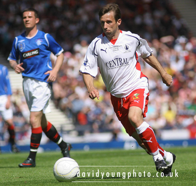 Neil McCann during the Homecoming Scottish FA Cup Final between Falkirk and Rangers at Hampden Park (picture by David Young - 07765 252616)
