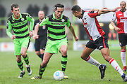 Forest Green Rovers Darren Carter(12) during the Vanarama National League match between Forest Green Rovers and Woking at the New Lawn, Forest Green, United Kingdom on 25 February 2017. Photo by Shane Healey.