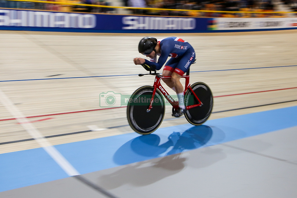 March 2, 2018 - Apeldoorn, Netherlands - Daniel Bigham of Great Britain take part in the Men's Indivdual Pursuit Qualifying during the UCI Track Cycling World Championships in Apeldoorn on March 2, 2018. (Credit Image: © Foto Olimpik/NurPhoto via ZUMA Press)