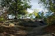 Couple on a rock near Sheep Meadow