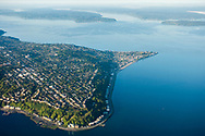 Aerial view of west Seattle, Washington.