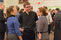 Reception after Evensong for the Installation of The Very Reverend Andrew B. McGowan. Common Room, Yale Divinity School.