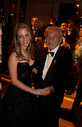 Carolina De Laurentiis dancing with her father Dino, The  Thirteenth Annual Crillon Haute Couture Ball. Paris,  29 November 2003. © Copyright Photograph by Dafydd Jones 66 Stockwell Park Rd. London SW9 0DA Tel 020 7733 0108 www.dafjones.com