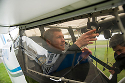 Pictured: Willie Rennie prepare to get his earphones on<br /> Scottish Liberal Democrat leader Willie Rennie took to the skies as he joined the UK Civil Air Patrol for a training flight in Perth. Mr Rennie took the opportunity to set out Liberal Democrat plans to restore local accountability and decision making within Police Scotland. The UK Civil Air Patrol provides airborne assistance for agencies, groups or individuals who would otherwise not have access to such a facility.  Until 2013 the service regularly assisted Police officers with air searches in missing person cases. This ended following the creation of Police Scotland.  <br /> Ger Harley | EEm 12 April 2016