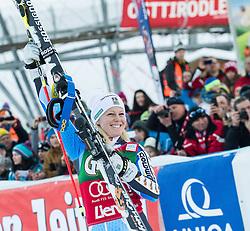 28.12.2013, Hochstein, Lienz, AUT, FIS Weltcup Ski Alpin, Lienz, Riesentorlauf, Damen, Siegerpraesentation, im Bild Zweiter Platz Jessica Lindell-Vikarby (SWE) // 2nd place Jessica Lindell-Vikarby from Sweden celebrates on podium after ladies giant slalom Lienz FIS Ski Alpine World Cup at Hochstein in Lienz, Austria on 2013/12/28, EXPA Pictures © 2013 PhotoCredit: EXPA/ Michael Gruber