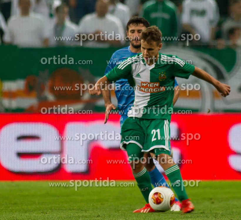 22.08.2013, Gerhard Hanappi Stadion, Wien, AUT, UEFA Europa League Qualifikation, SK Rapid Wien vs FC Dila Gori, Hinspiel, im Bild Louis Schaub // during UEFA Europa League Qualification, first leg match between SK Rapid Wien and FC Dila Gori at the Gerhard Hanappi Stadium, Vienna, AUT on 2013/08/22. EXPA Pictures © 2013, PhotoCredit: EXPA/ Sascha Trimmel