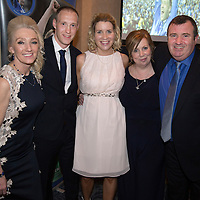 Steven Anderson Testimonial Dinner, Salutation Hotel, Perth...21.02.15<br /> Steven pictured with from left, his mum Marion, wife Sarah, mother in law Lorna and father in law Tommy<br /> Picture by Graeme Hart.<br /> Copyright Perthshire Picture Agency<br /> Tel: 01738 623350  Mobile: 07990 594431