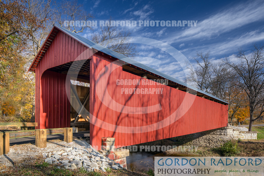 The James Covered Bridge located in Lovett Township, Jennings County, Indiana