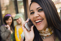 Teenager Laughing on Cell Phone