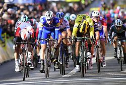 March 10, 2019 - Saint-Germain-En-Laye, France - Saint-Germain-en-Laye, France - March 10 : DYLAN GROENEWEGEN of TEAM JUMBO - VISMA, FABIO JAKOBSEN of DECEUNINCK - QUICK - STEP, CALEB EWAN of LOTTO SOUDAL during stage 1 of the 2019 Paris - Nice cycling race with start and finish in Saint-Germain-en-Laye (138,5km) on March 10, 2019 in Saint-Germain-en-Laye, France, 10/03/2019 (Credit Image: © Panoramic via ZUMA Press)
