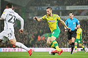 Norwich City midfielder Marco Stiepermann (18) during the EFL Sky Bet Championship match between Norwich City and Swansea City at Carrow Road, Norwich, England on 8 March 2019.