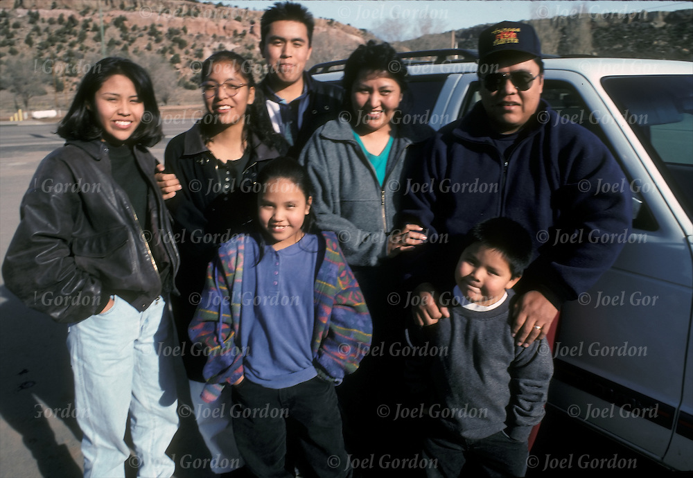 Navajo - Native American - extended family on the Navajo Reservation, Chinle, AZ