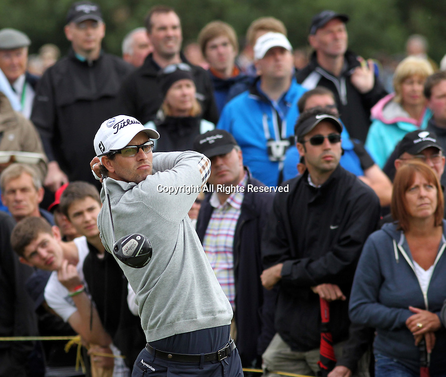 20.07.12 Lytham & St Annes, England. Australian Adam Scott in action during the second round of The Open Golf Championship from the Royal Lytham & St Annes course in Lancashire